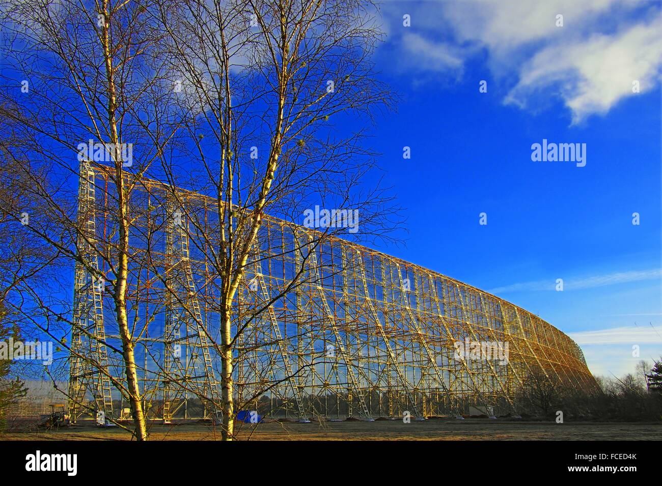 Radio Astronomic Station in the Sologne forest, Nancay, Cher, Centre-Val de Loire, France - Stock Image
