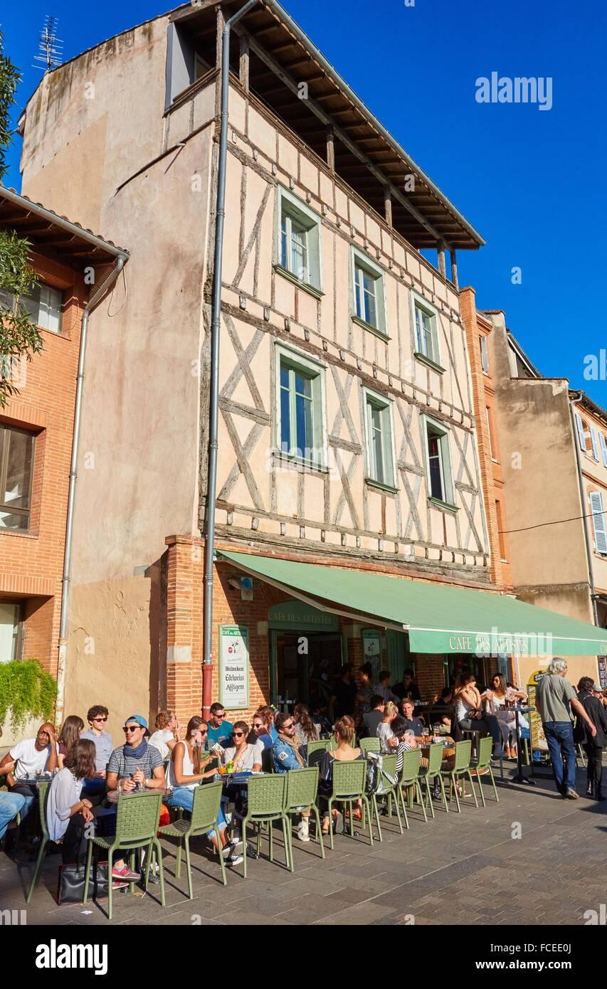 Cafe des Artistes. Toulouse. Haute Garonne. France. - Stock Image