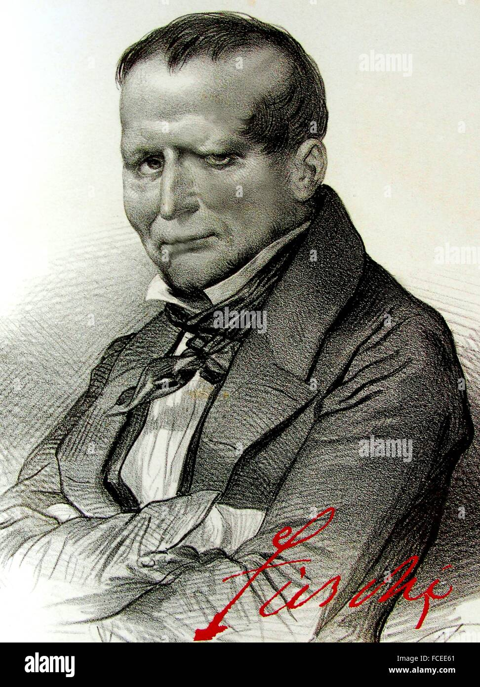 Giuseppe Marco Fieschi (13 December 1790 - 19 February 1836) was the chief conspirator in an attempt on the life - Stock Image
