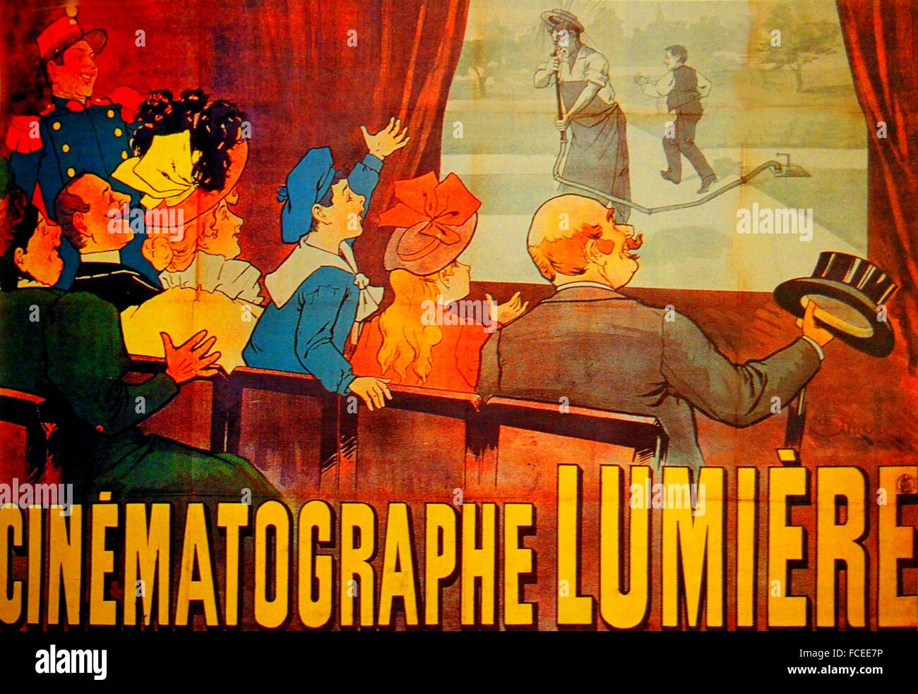"""cinematograph"" , from the Greek for ""writing in movement"". Due to a lack of money, Bouly was unable to develop Stock Photo"