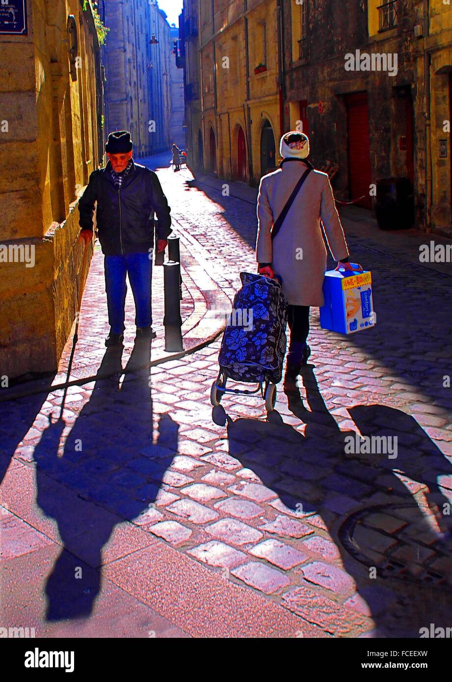 Saint Michel area in the old Bordeaux, Gironde, Aquitaine, France - Stock Image