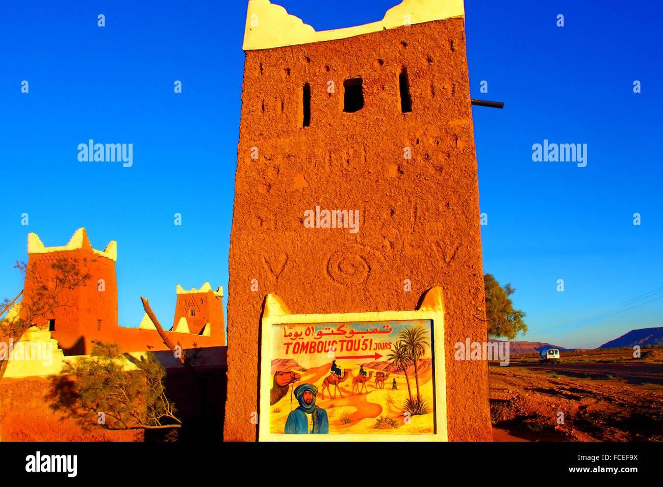 Tinfou, 51 days from Timbuktu on camel back, Zagora province, Morocco - Stock Image