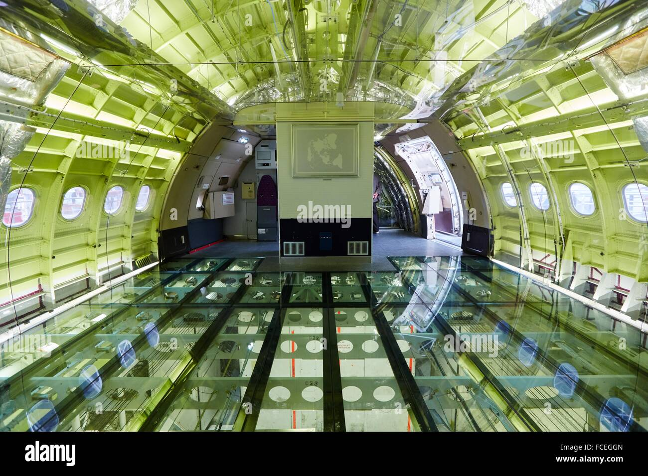 Airbus A300B aircraft. Aeroscopia. Aeronautical Museum. Toulouse. Haute Garonne. France. - Stock Image