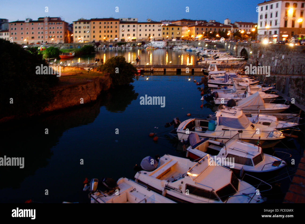 Impressionen - Livorno, Italien. - Stock Image