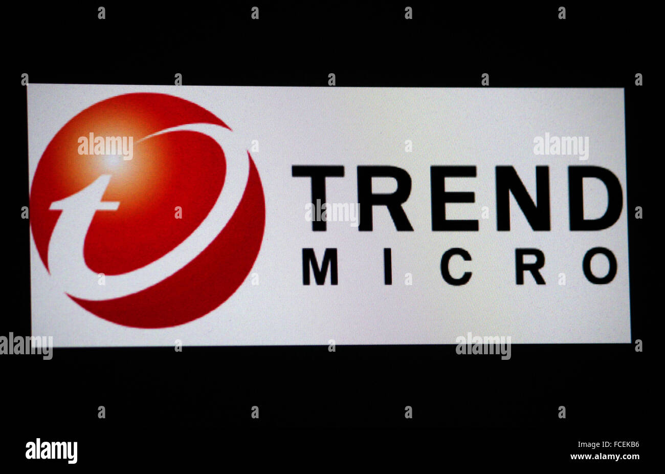 Markenname: 'Trend Micro', Berlin. - Stock Image