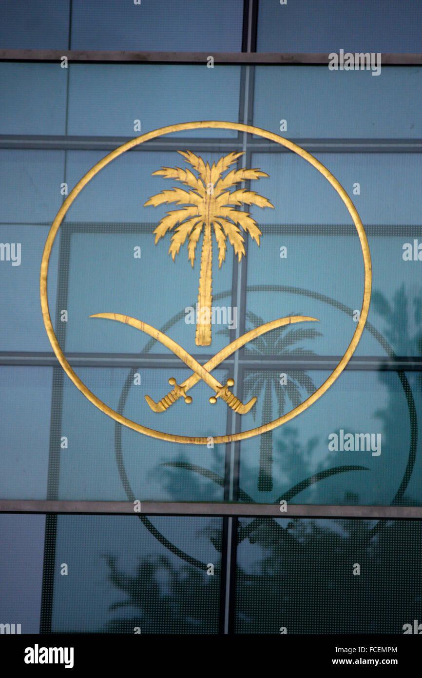 Botschaft von Saudi Arabien, Berlin-Tiergarten. - Stock Image