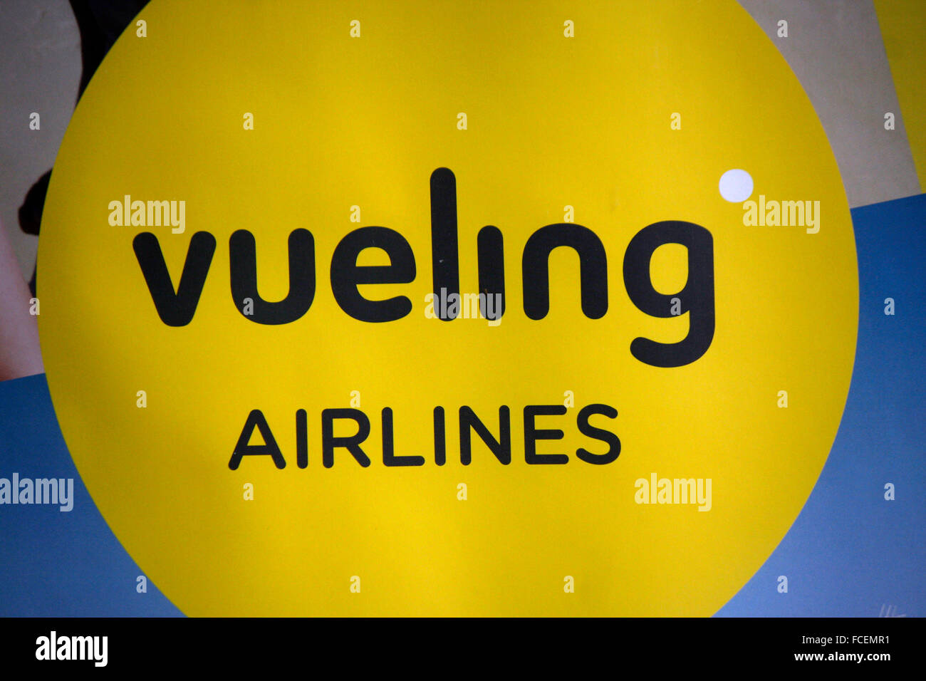 Markenname: 'Vueling Airlines', Berlin. - Stock Image