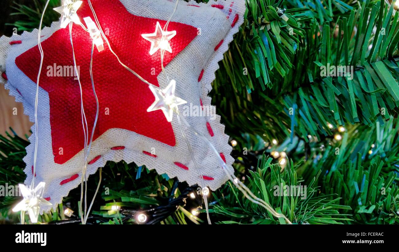 Christmas Decorations In Garden Center Stock Photos & Christmas ...