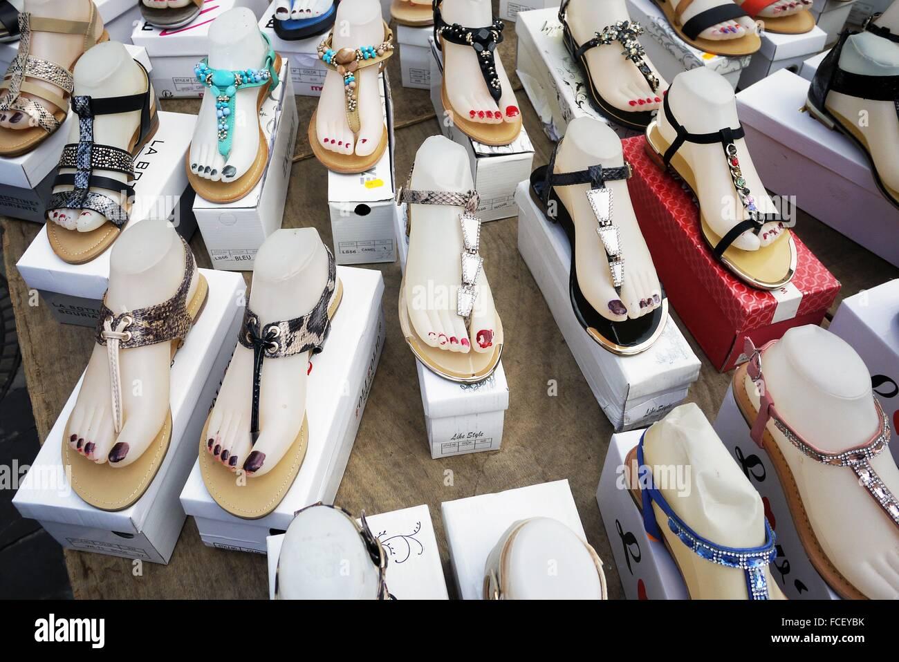 Summer sandals on sale Stock Photo - Alamy
