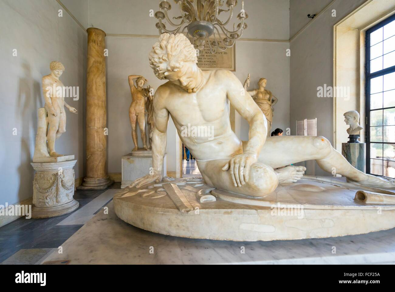 The Dying Galatian Scultpure, Palazzo Nuovo, Capitolini Museums, Rome, Italy, Europe. - Stock Image