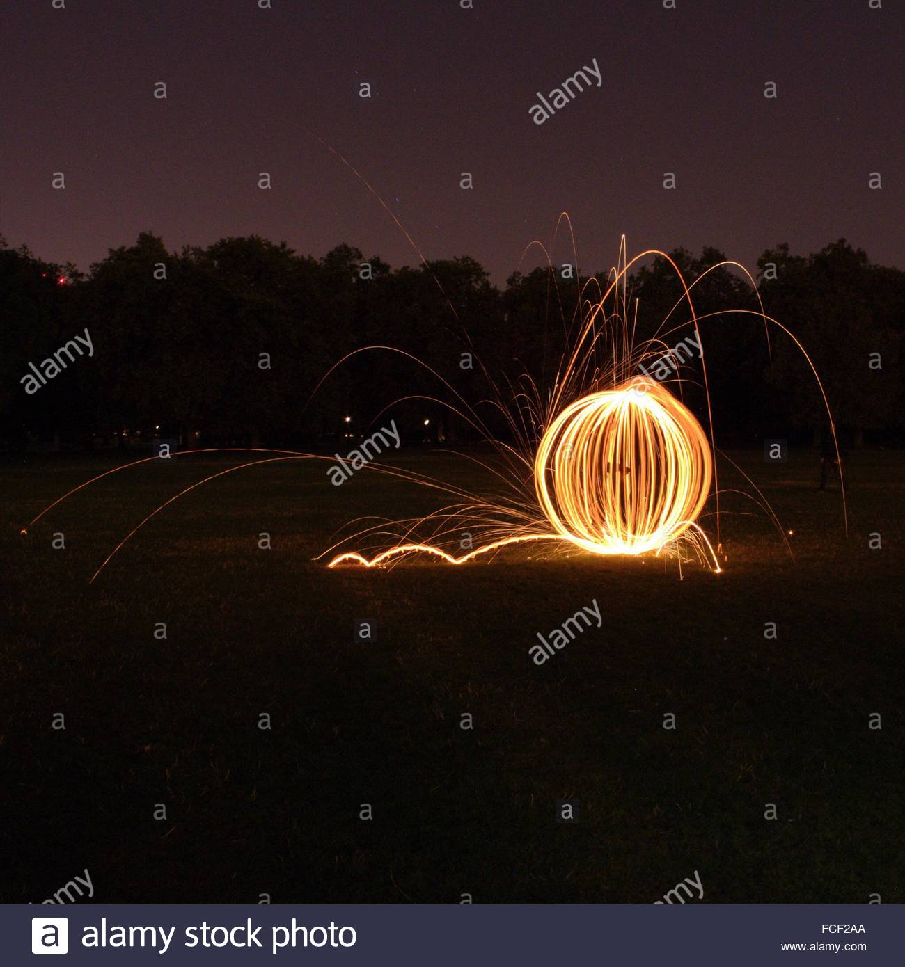 View Of Light Trail - Stock Image