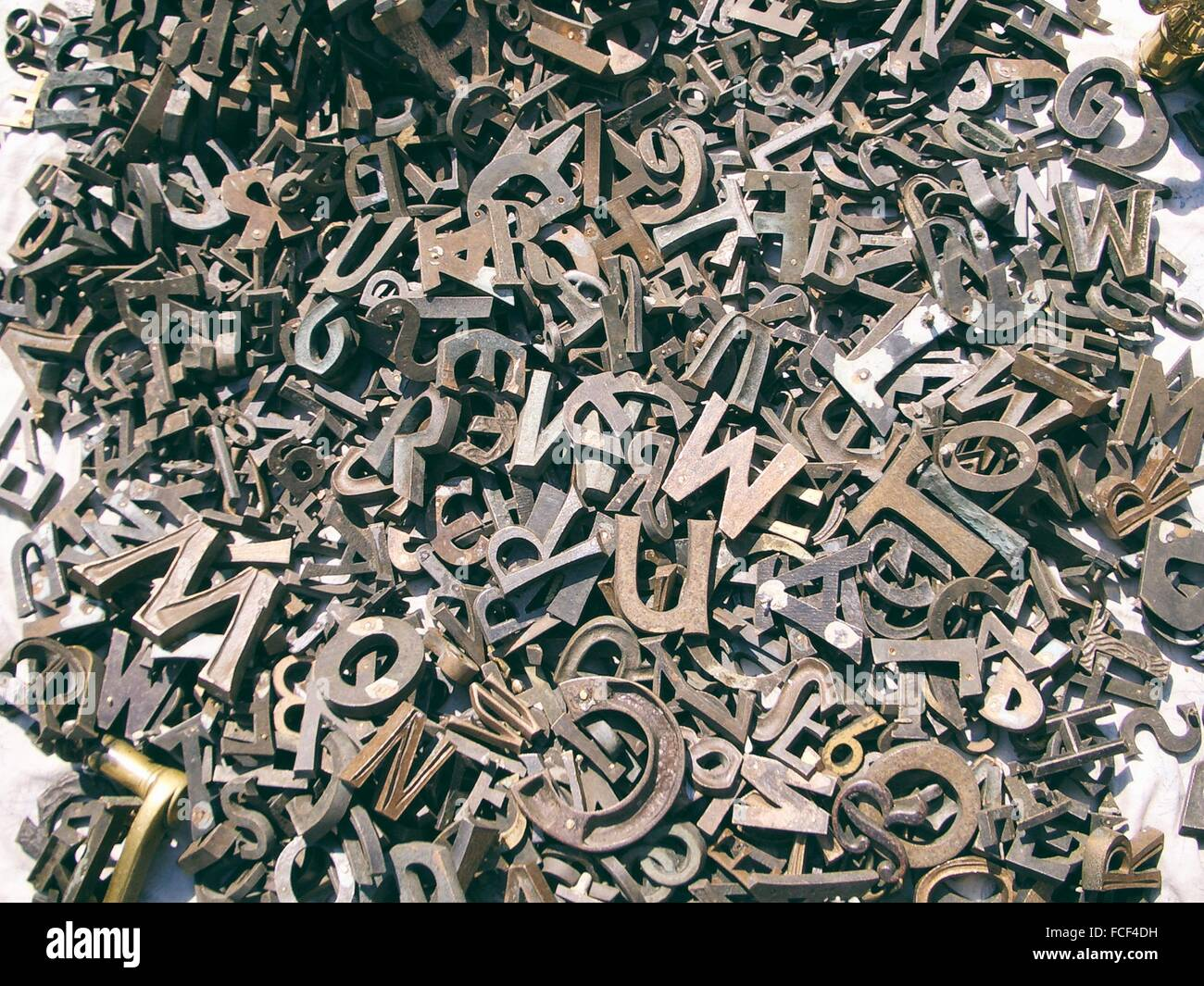 Capital Letters On White Background - Stock Image