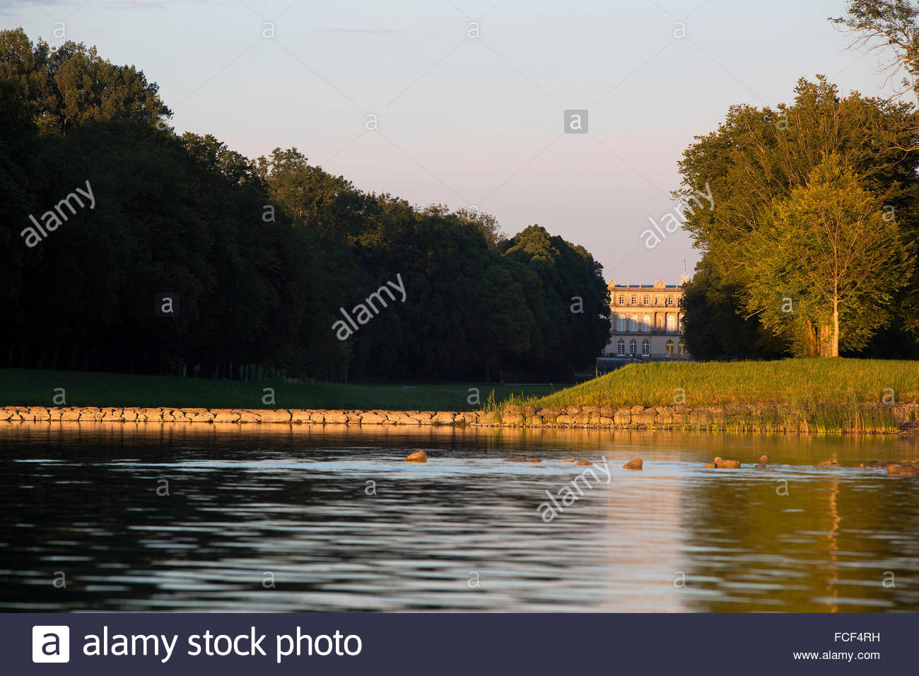 Castle Herrenchiemsee in Bavaria, Germany - Stock Image