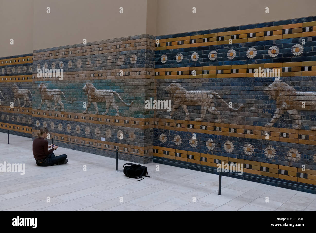 Berlin, German city, Germany, Europe. Reconstruction of the Processional Way of Babylon at the Pergamon Museum, Stock Photo