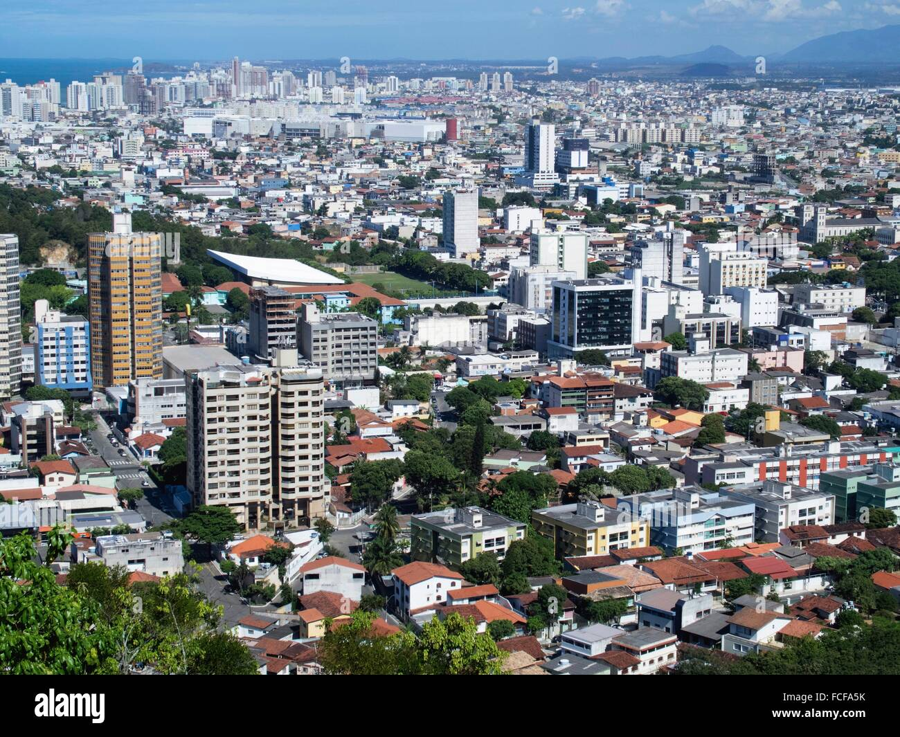 Residential Structures And City Skyline At Vitoria Espirito
