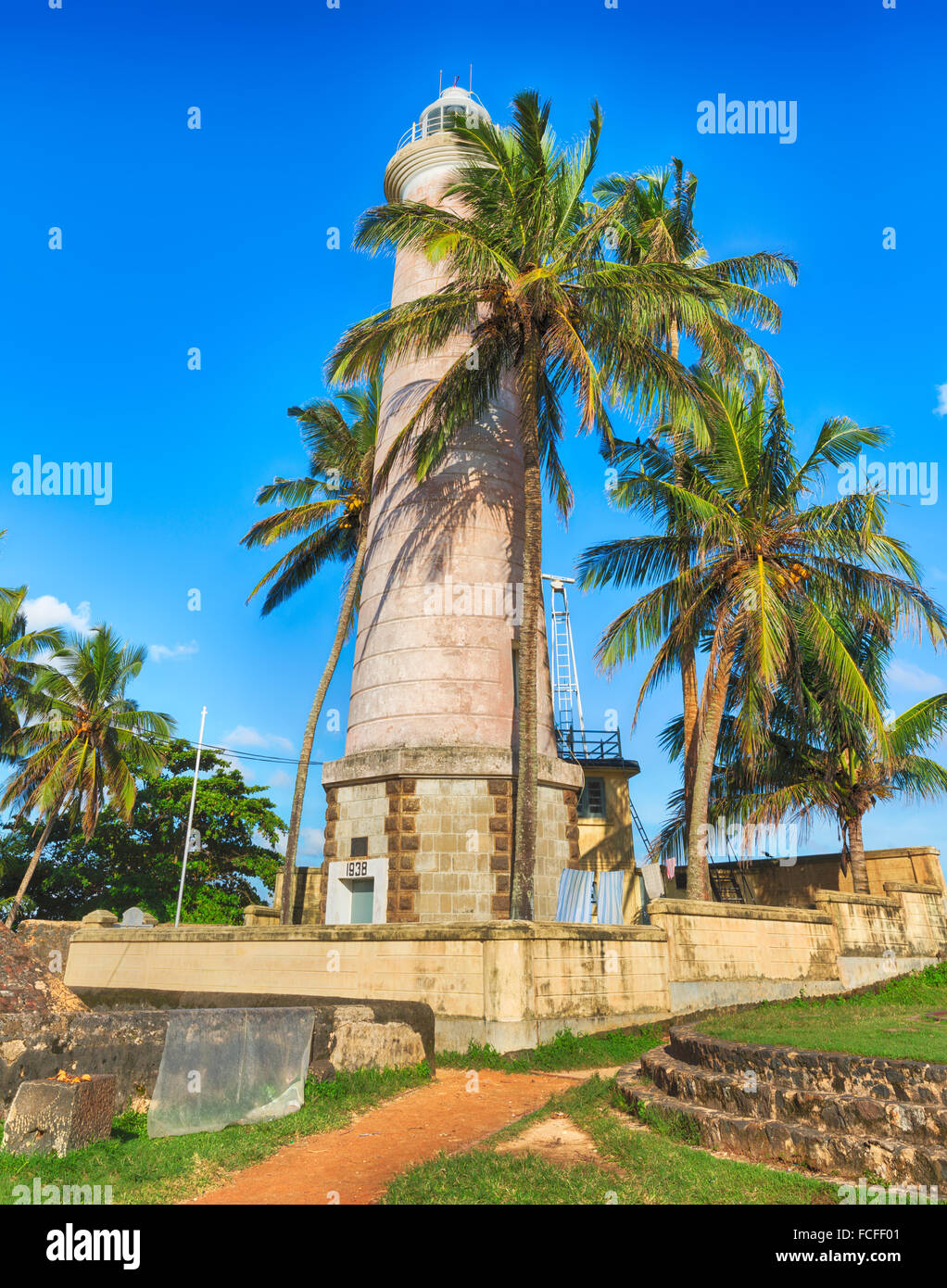 Onshore Lighthouse in Galle, Sri Lanka - Stock Image