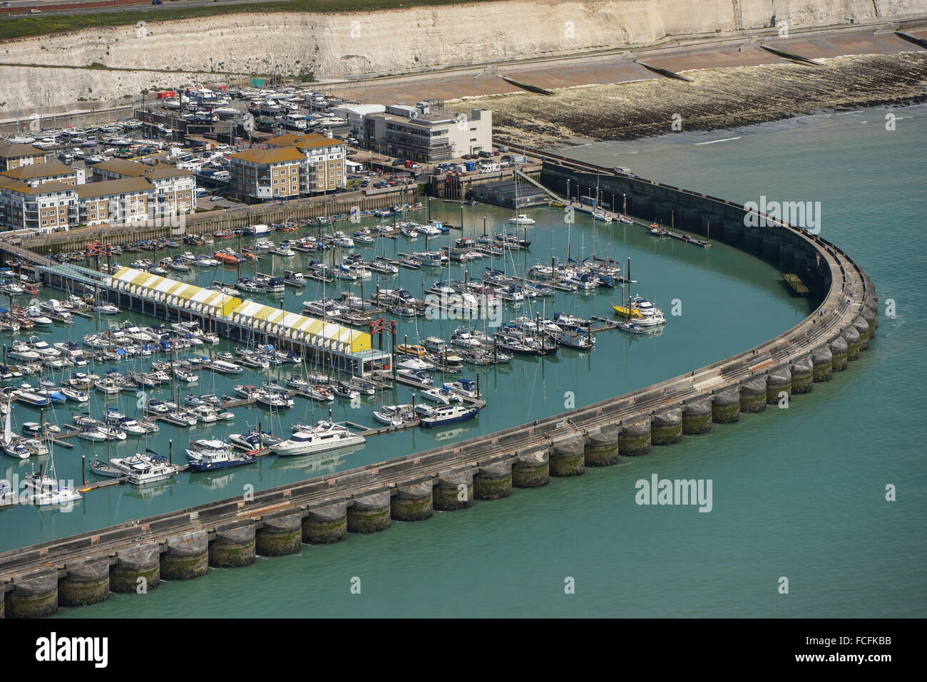 An aerial view of Brighton Marina in East Sussex - Stock Image
