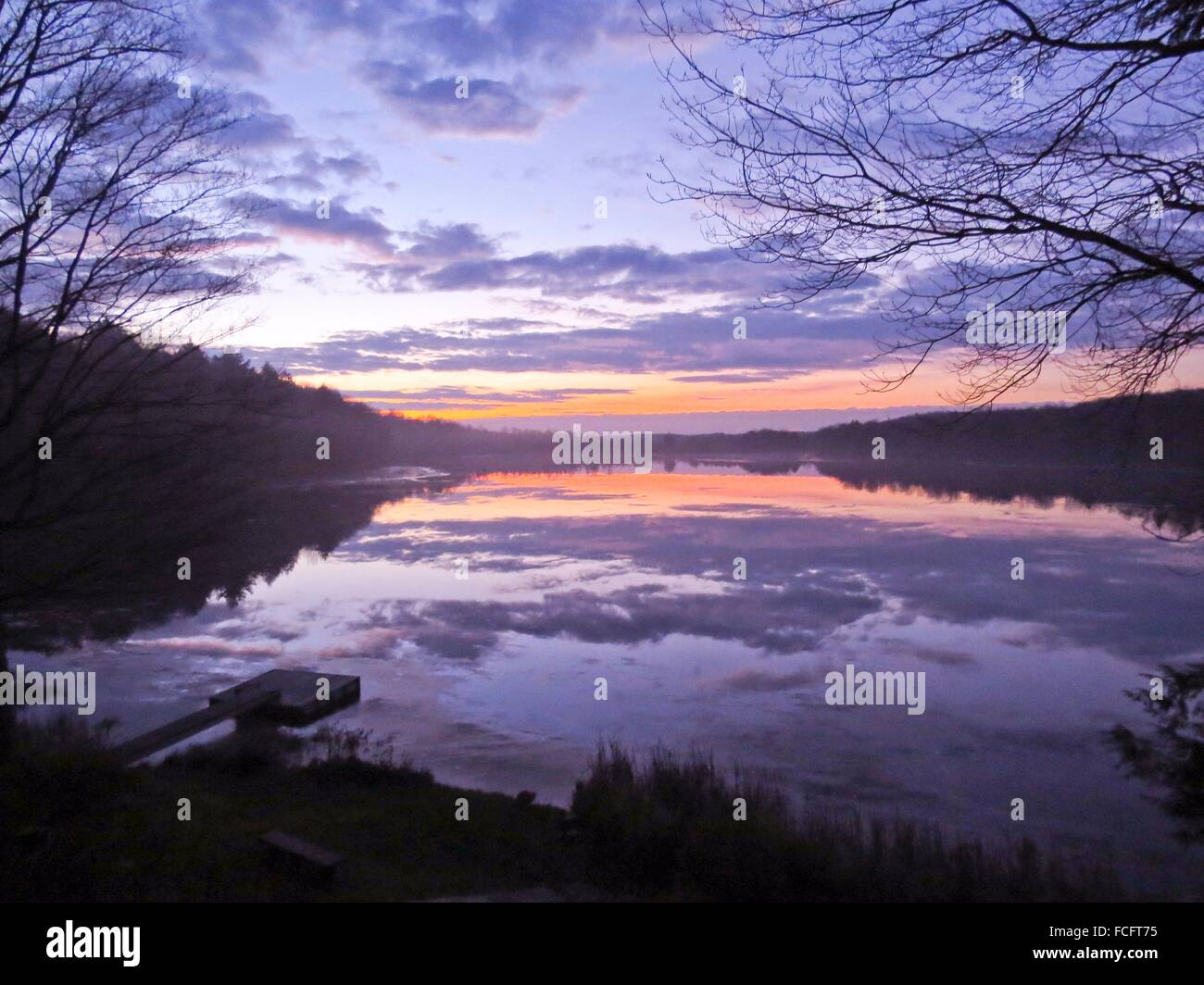 Serenity on lake - Stock Image