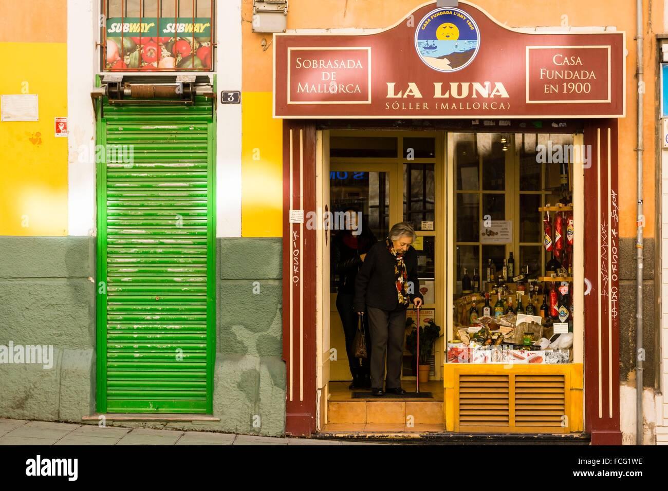fachada de la tienda La Luna, Palma, Mallorca, balearic islands, spain, europe. - Stock Image