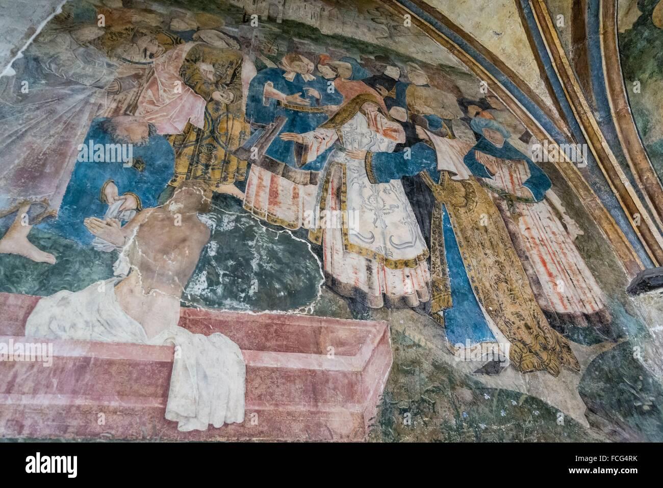 reanimacion de San Lazaro, capilla de ST Lazare, - ST Leger-, iglesia de San Nicolás (templo católico de origen Stock Photo