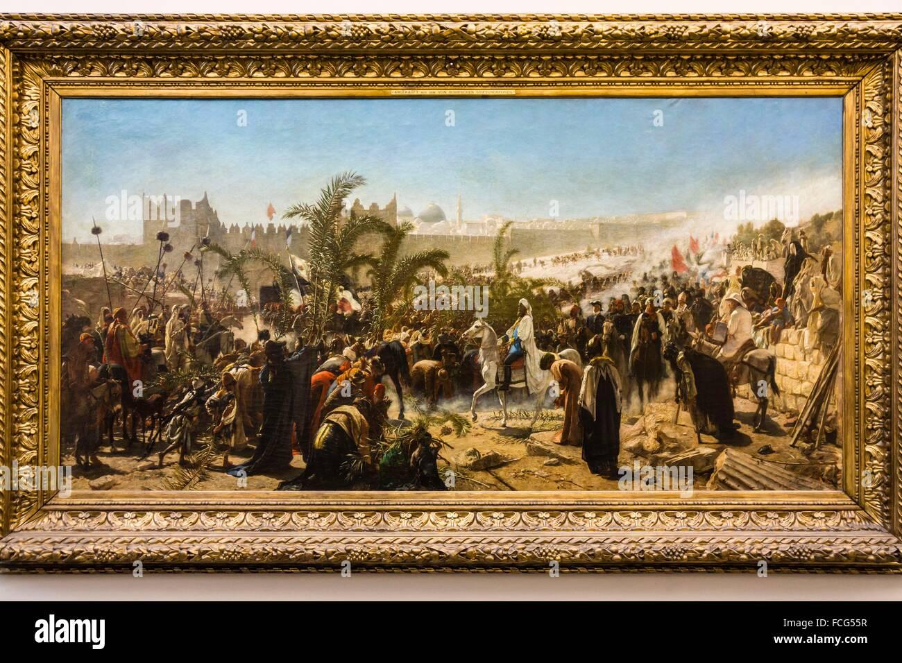 La llegada del príncipe heredero de Prusia en Jerusalem 4 de noviembre de 1869, Alte Nationalgalerie ,Antigua - Stock Image