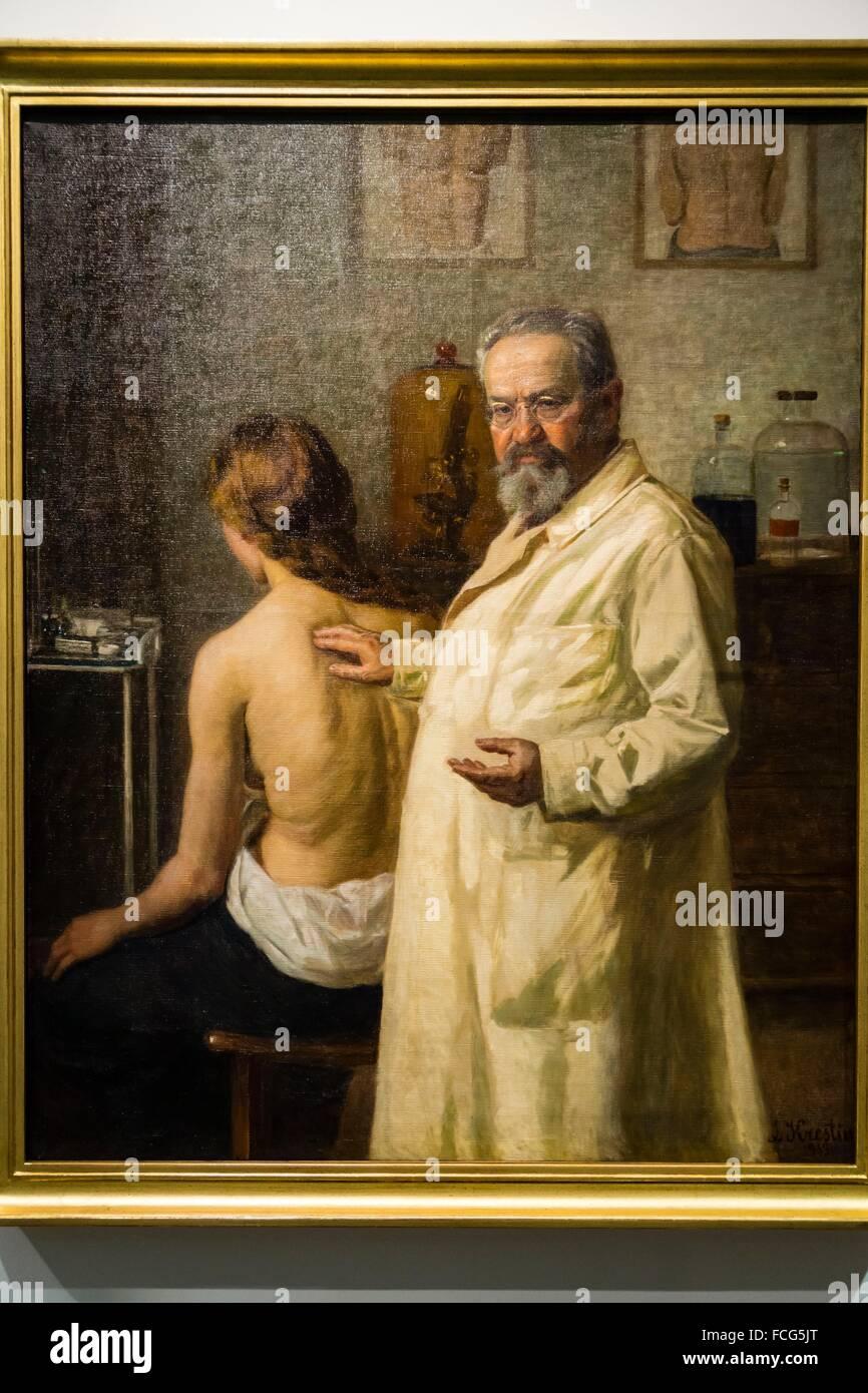 retrato del doctor Salomon Ehrmann, Lasar Krestin, 1913, oleo sobre lienzo, Museo Judío de Berlín,Berlin, Germany Stock Photo