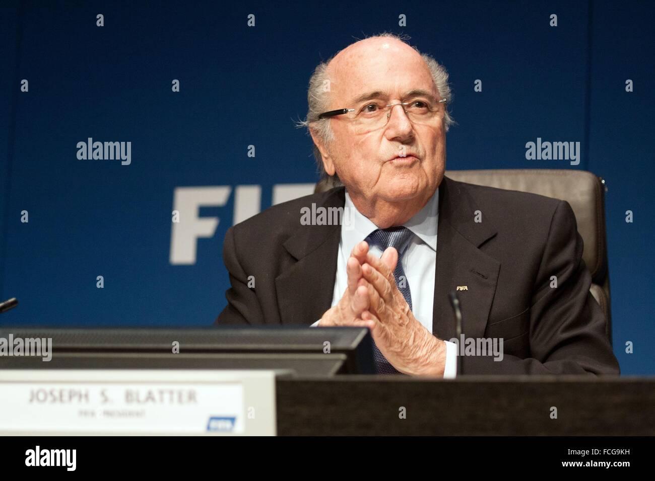 JOSEPH SEP BLATTER, FIFA PRESIDENT - Stock Image