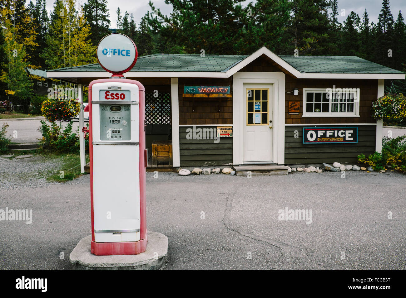 Gas Station For Sale In Alberta >> Old Gas Station Replica Castle Junction Bow Valley