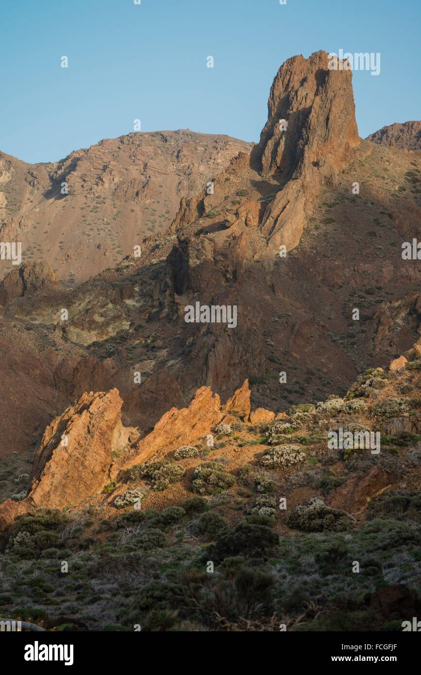 Aspect of Cañadas del Teide, a former crater of the primitive volcano. - Stock Image