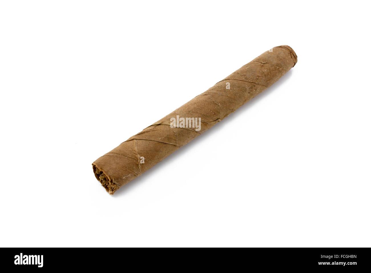 Cuban cigar isolated on white - Stock Image