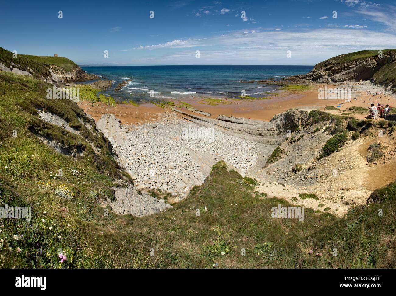 El Sable beach, Suances, Cantabria, Spain - Stock Image