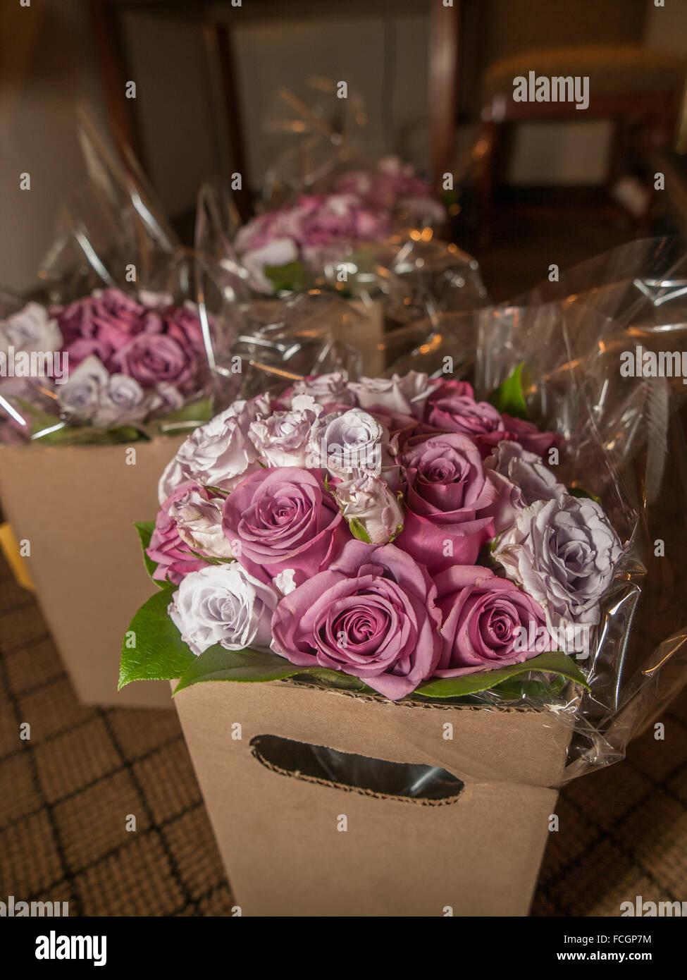 Pink Flower Centerpieces Stock Photos Pink Flower Centerpieces