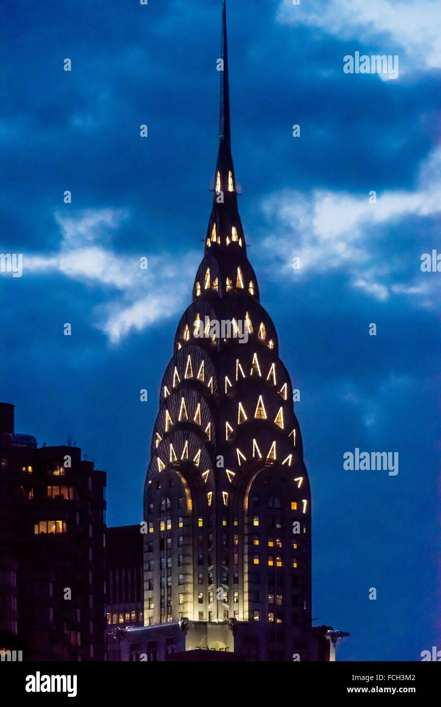 The iconic art deco Chrysler Building, New York New York USA. - Stock Image