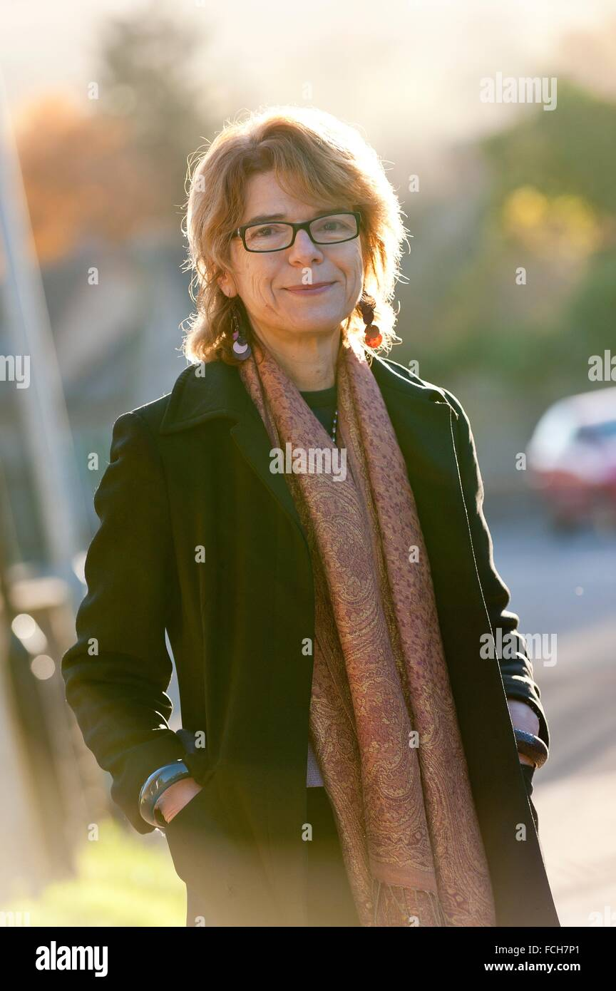 Hay-on-Wye, Wales, UK. 30th November 2013. Vicky Pryce, exwife of politician Chris Huhne and author of Prisontronics, - Stock Image
