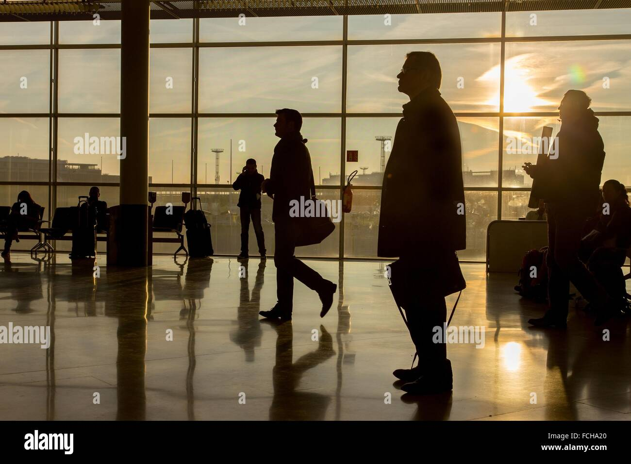 ILLUSTRATION AIRPORTS OF PARIS, ORLY, (94) VAL-DE-MARNE, ILE-DE-FRANCE - Stock Image