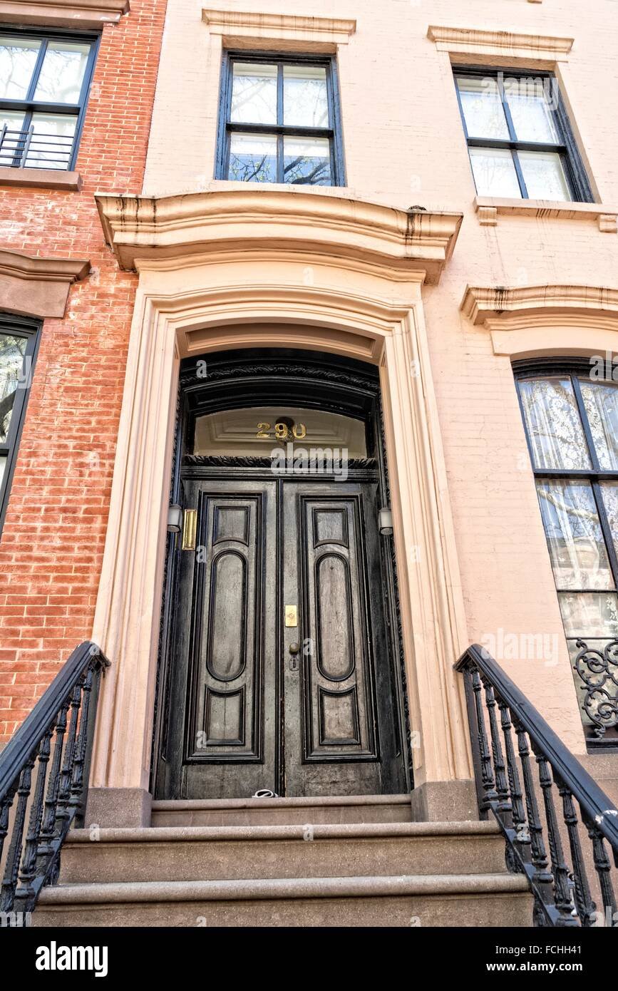 Elegant Front Entry Double Doors On A Greenwich Village New York