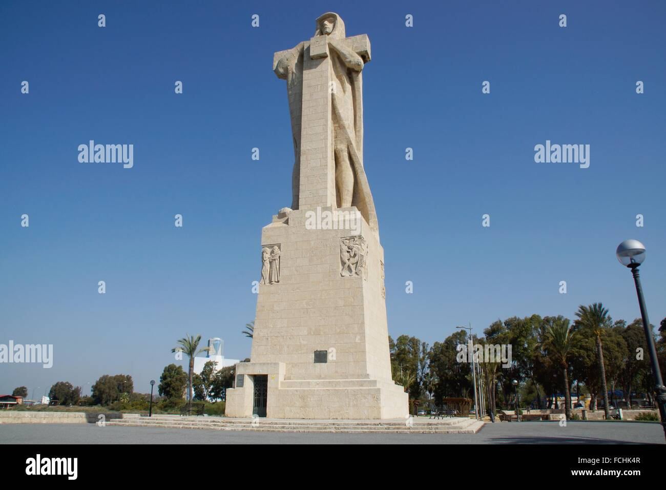 Huelva (Spain). Monument to the Faith Discoverer. (It was donated to Spain by the United States in 1929). - Stock Image