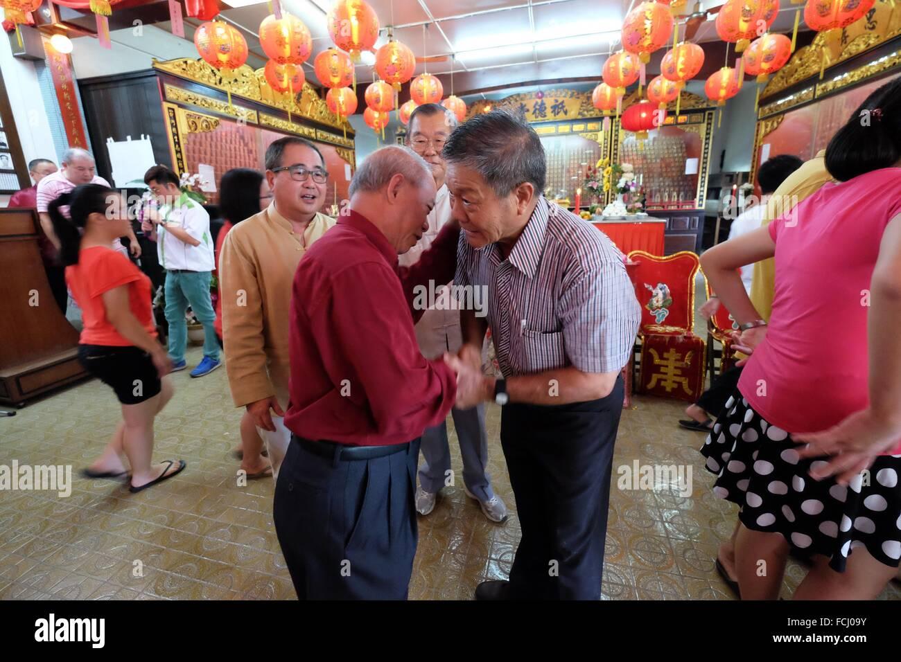 chinese new year greetings at the sarawak chais clan association kuching sarawak malaysia