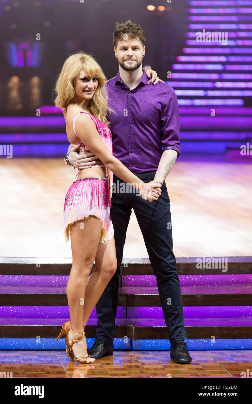 Birmingham, UK. 21st January 2016. Jay McGuiness and Aliona Vilani, at The Strictly Come Dancing Live Tour Photocall - Stock Image