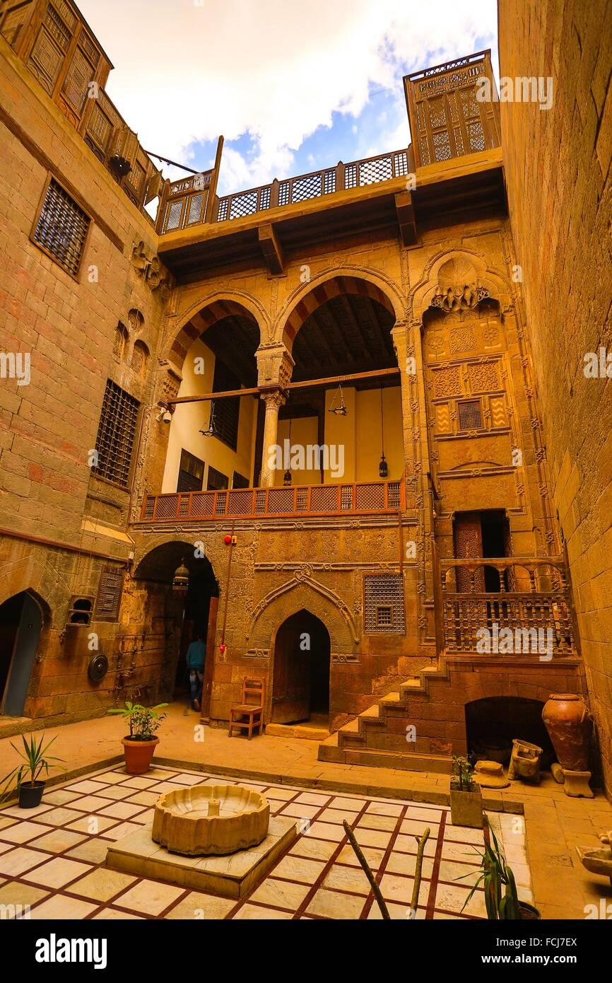 Description: Bait Zinab khaton, an old Arabic house, City of Cairo, Egypt. - Stock Image