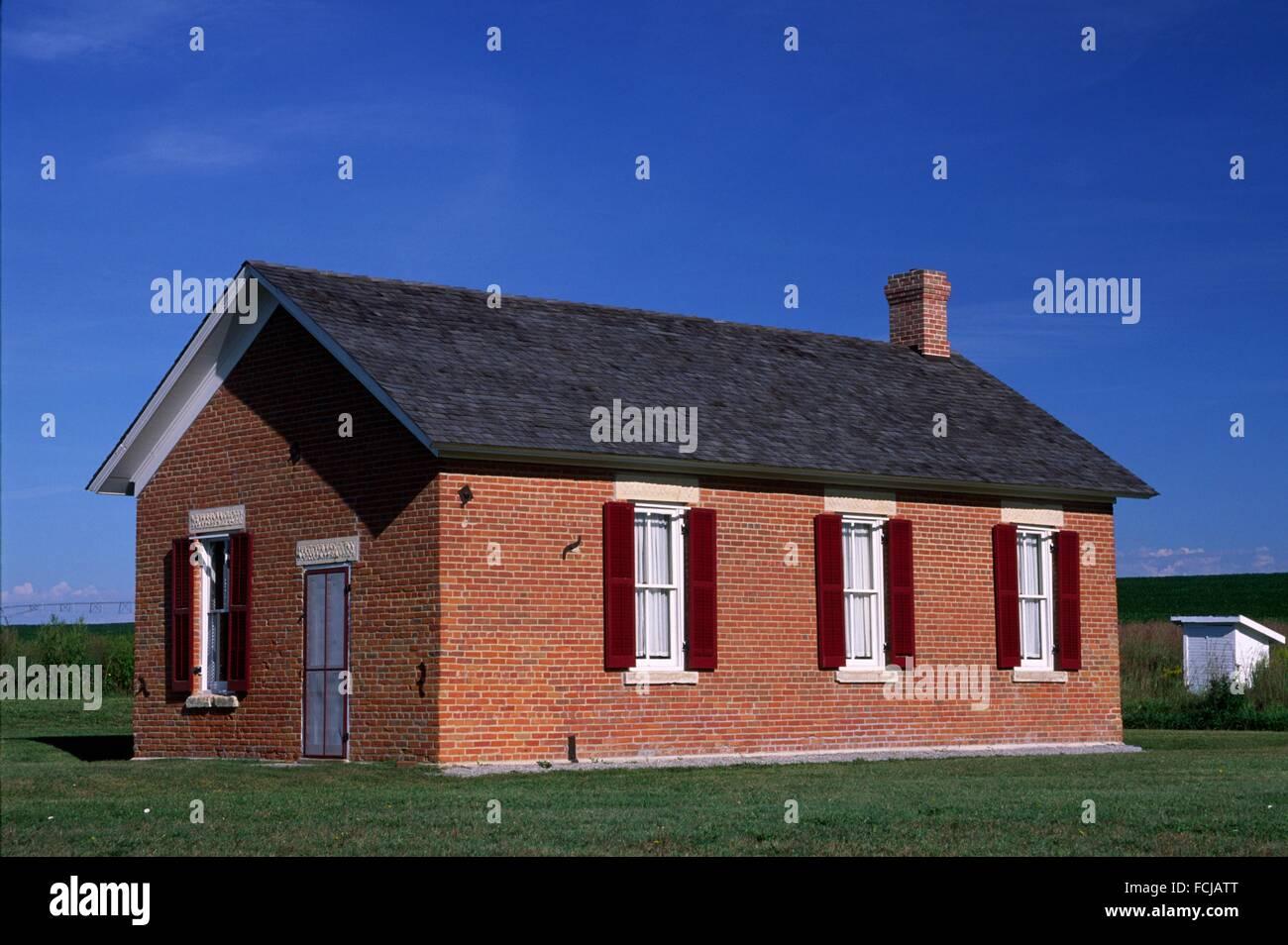 Freeman School, Homestead National Monument of America, Nebraska. - Stock Image