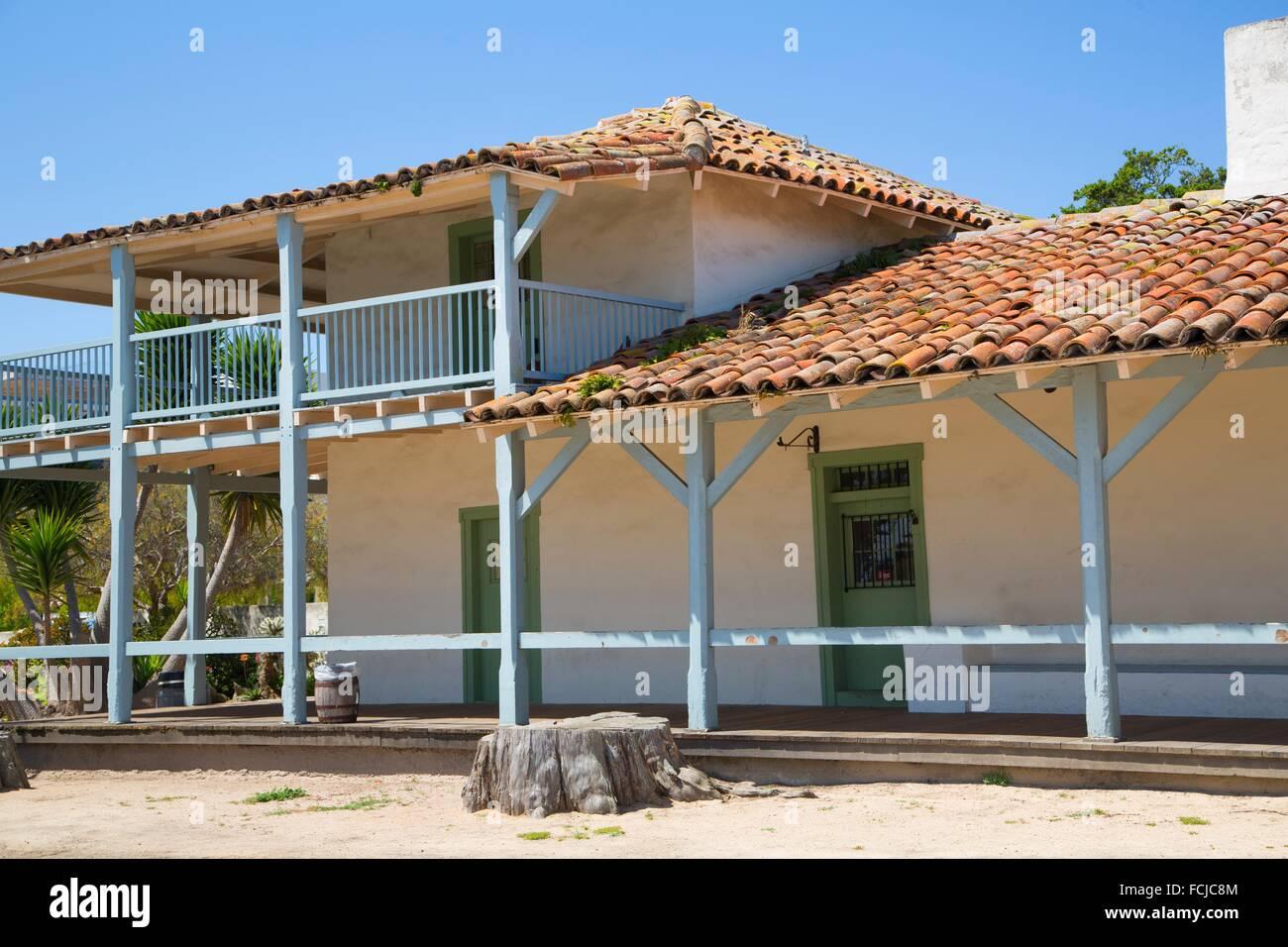 Custom House, Fisherman´s Wharf, Monterey, California. - Stock Image