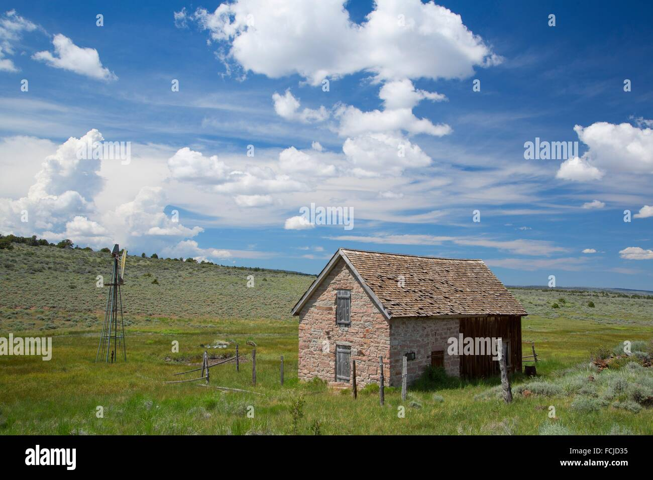 Last Chance Ranch, Sheldon National Wildlife Refuge, Nevada. - Stock Image