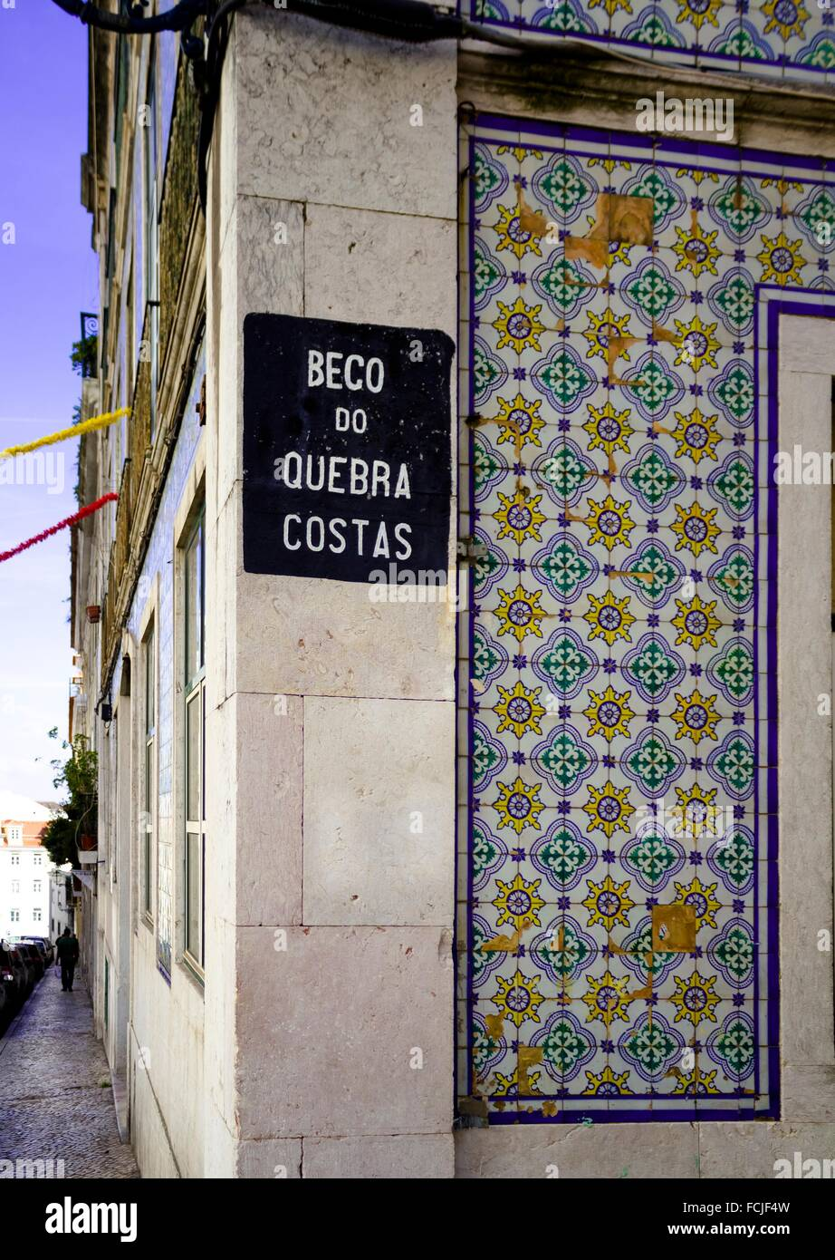 Street on Lisbon, Portugal Stock Photo