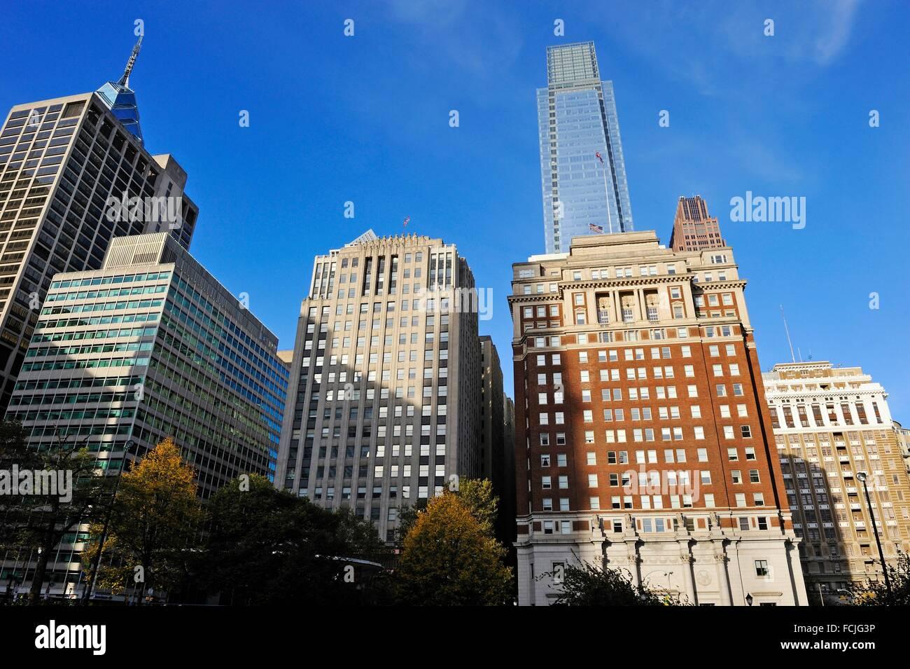 buildings around JFK Plaza, Downtown, Philadelphia, Commonwealth of Pennsylvania, Northeastern United States,. - Stock Image