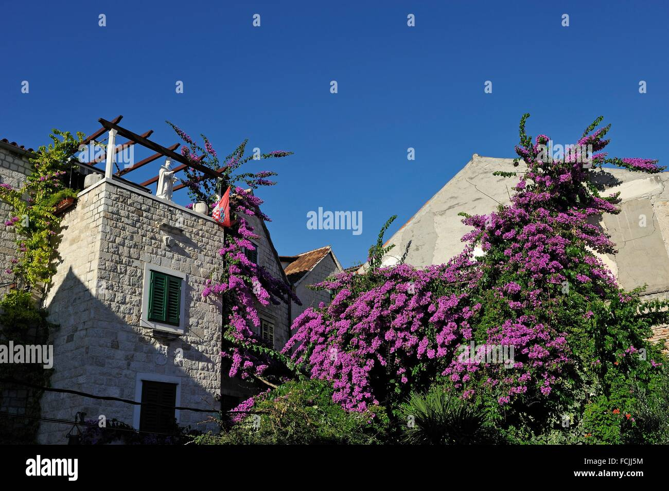 square beside the Ethnographic Museum, Severova street, Diocletian´s Palace, Old Town, Split, Croatia, Southeast - Stock Image