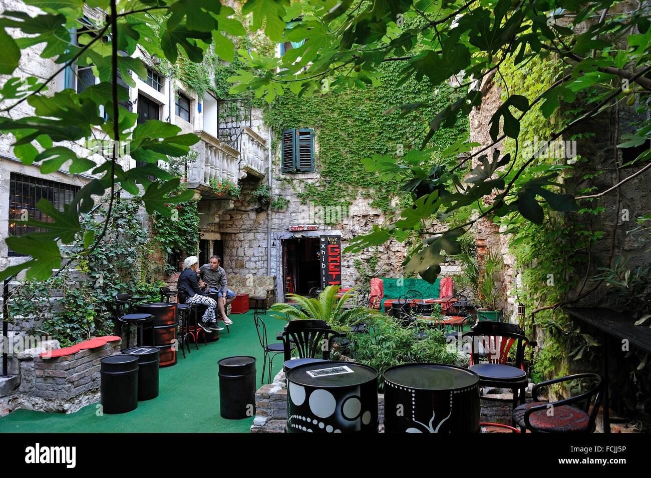Academia Ghetto Club, Dosud 10 street, Old Town, Split, Croatia, Southeast Europe. - Stock Image