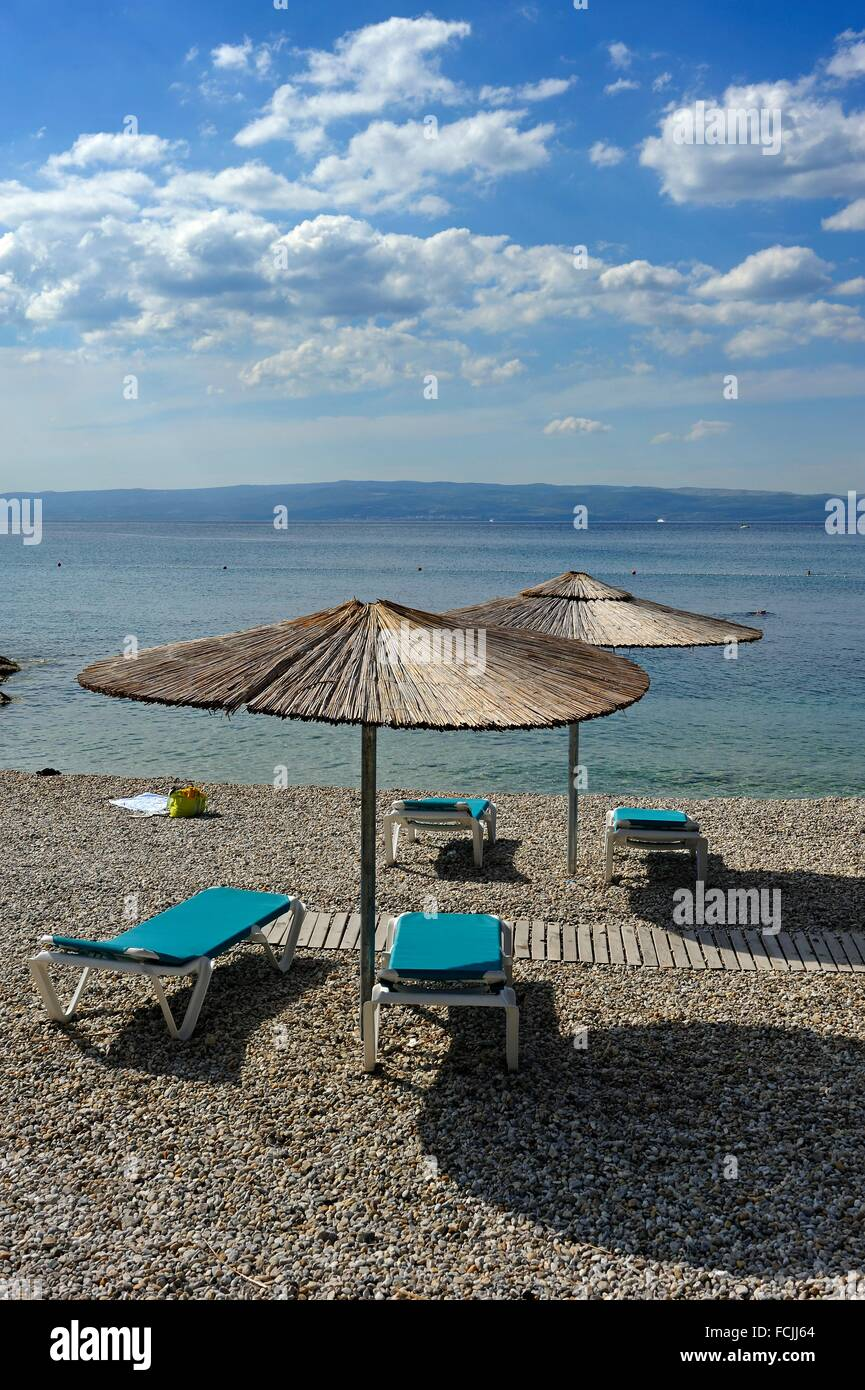 beach of Radisson Blu Resort, Split, Croatia, Southeast Europe. - Stock Image