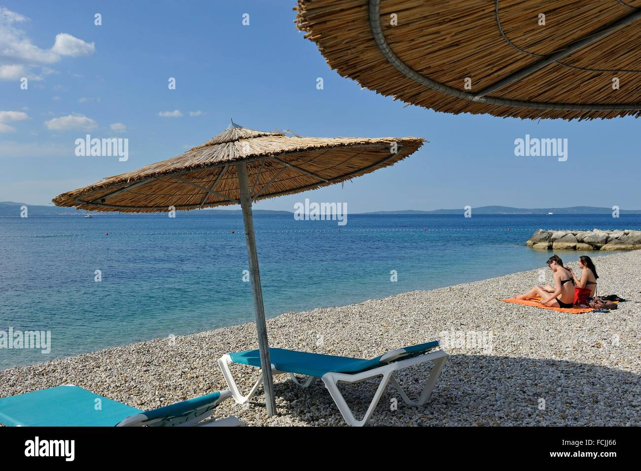 beach of Radisson Blu Resort, Split, Croatia, Southeast Europe. - Stock Image