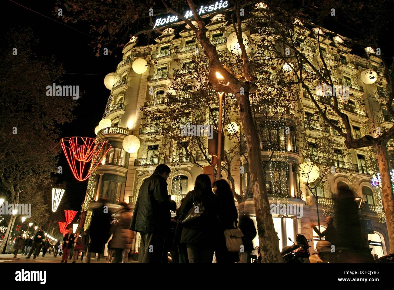 Majestic Christmas.Hotel Majestic Christmas Lights Passeig De Gracia